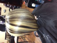 Inverted with bold highlights & low lights - not so brassy or gold looking but I like the contrasts