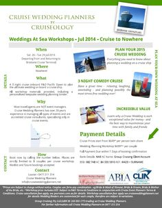 Want excellent tips and hints about caring for your loved ones? Head out to our great site! Cruise To Nowhere, Cruise Wedding, Wedding Planners, First Love, The Outsiders, Workshop, Australia, How To Plan, Board