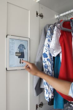 Keep a digital closet inventory with Stylebook so you don't have to mess up your real closet. This is especially helpful if you have a neatly organized open closet