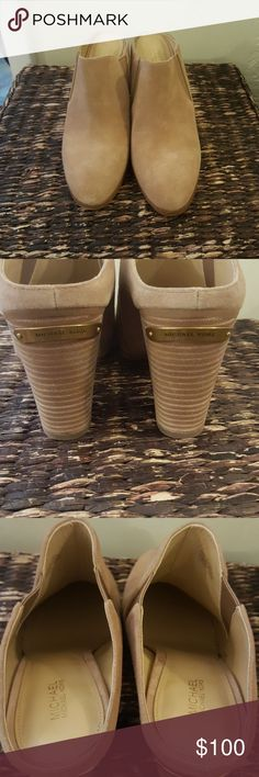 Brand New Michael Kors Braden suede mules Brand new almond toe mule with stacked 3.5 inch heel Michael Kors Shoes Mules & Clogs