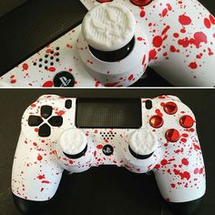 Cool Ps4 Controllers, Ps4 Controller Custom, Game Controller, Control Playstation, Control Ps4, Gamer Setup, Gaming Room Setup, Videogames, Custom Consoles