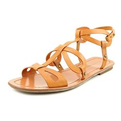 Via Spiga Donnie Women Open Toe Leather Slingback Sandal * Remarkable product available now. : Strappy sandals