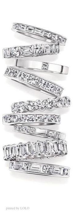 Harry Winston. love, love, love the emerald cut band, second from the bottom (sigh)