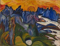 Midnight Sun, Lofoten, Norway by William H. Johnson / American Art