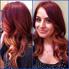 Red ombre #balyage #redhead #hair #style