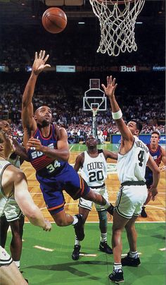 Barkley Lays It Up In A Crowd, '93.