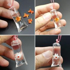 Miniature Goldfish in Plastic Bag Size: Height 5 cm, Width 2 cm Material: Clay, Resin. Miniature goldfish available in white or orange. Miniature Goldfish in Plastic Bag Miniature Goldfish 🐟🐠 Now for sale. Store link in bio. Cute Crafts, Crafts For Kids, Arts And Crafts, Diy Crafts, Pot Mason Diy, Mason Jar Crafts, Resin Crafts, Paper Crafts, Sharpie Crafts