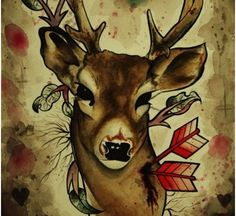 For those who are interested to inscribe a body art that depicts harmony & peace can go for deer tattoo. This is one of the best options & here are top picks of deer tattoos Deer Hunting Tattoos, Deer Skull Tattoos, Cool Tribal Tattoos, Skull Tattoo Design, Deer Skulls, Cool Tattoos, Tattoo Designs, Deer Tattoo Meaning, Tattoos With Meaning