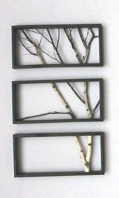 diy wall art. Tree Branch Art - What a cute idea!