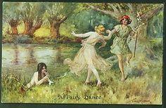 """Thomas Maybank """"A Fairy Dance"""" CW Faulkner Series 1323 Fairies Dancing"""