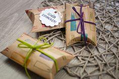 Geschenke schön verpacken | schön einpacken, Pillow Box, Geschenke einpacken, Geschenke verpacken, Gift wrapping