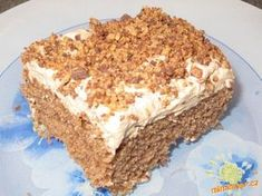 Picture of Recept - Pařížské řezy - v jednoduchosti je kouzlo Slovak Recipes, Russian Recipes, Desserts Thermomix, Chocolate Coconut Slice, Carrot Cake, Sweet Tooth, Bakery, Deserts, Food And Drink