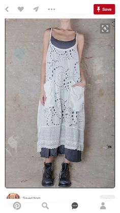 Discover thousands of images about Eveliend sleeveless-Dress Magnolia Pearl, Beautiful Outfits, Cool Outfits, Look Boho Chic, Mori Fashion, Estilo Hippie, Altered Couture, Apron Dress, Mori Girl