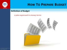 Definition of budget