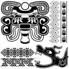 GraphicRiver Ancient American patterns 2613227