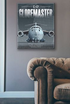 C-17 Globemaster III Specs canvas art C-17 Globemaster III is a large military transport aircraft. It was developed for the United States Air Force (USAF) from the 1980s to the early 1990s by McDonnell Douglas. The C-17 carries forward the name of two previous piston-engined military cargo aircraft, the Douglas C-74 Globemaster and the Douglas C-124 Globemaster II. The C-17 commonly performs strategic airlift missions, transporting troops and cargo throughout the world; additional roles… C 17 Globemaster Iii, Cargo Aircraft, Air Force Academy, Throughout The World, Custom Posters, Troops, 1990s, Specs, Canvas Art