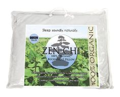 Buckwheat Pillow  Zen Chi Organic Buckwheat Pillow Queen Size 20 X 30 100 Percent Cotton Cover with Organic Buckwheat Hulls *** Want to know more, click on the image. #DecorativePillowCovers