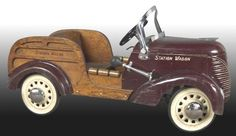 Wood Body Pedal Cars | Woody Station Wagon Pedal Car With Steel Front And Rear Wood Body