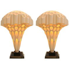 """Pair Rougier """"Brain"""" Lamps, made from PVC pipes. lOVE"""