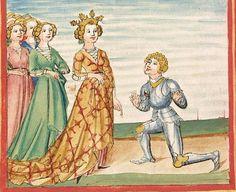 Pontus und Sidonia — Stuttgart (?) - Werkstatt Ludwig Henfflin, um 1475 Cod. Pal. germ. 142 Folio 46v