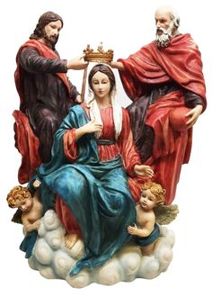 """9.5"""" Height Christian Statue Madonna Coronation of the Virgin Mary Figurine Jesus -- Awesome products selected by Anna Churchill"""