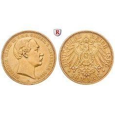 Deutsches Kaiserreich, Mecklenburg-Schwerin, Friedrich Franz III., 10 Mark 1890, A, ss/ss-vz, J. 232: Friedrich Franz III.… #coins