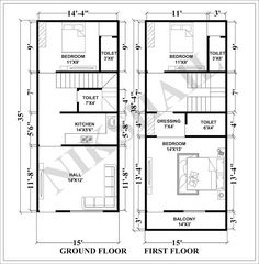Indian house design, small house design, house plan with elevation, Nikshail House Design Town House Plans, Narrow House Plans, Open Floor House Plans, Simple House Plans, House Layout Plans, Family House Plans, House Layouts, Duplex House Plans, Apartment Floor Plans