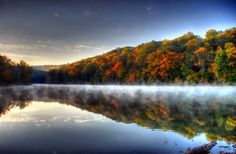 Ogle Lake, Brown County State Park ~  Geoff Thompson photo - One of the prettiest places in Indiana.