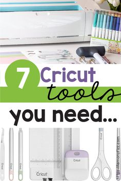 Which Cricut tools do you need? You have a Cricut Maker now you need to know what tools to use with it. Learn about weeding tools, tweezers, scrapers, and more! Cricut Mat, Cricut Vinyl, Cricut Fonts, Diy Crafts For Home Decor, Crafts For Teens, Card Making Supplies, Craft Supplies, Weeding Tools, Fine Point Pens