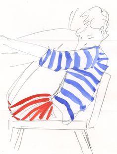 drawn stripes