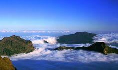 Mar de nubes en  La Palma, Islas Canarias