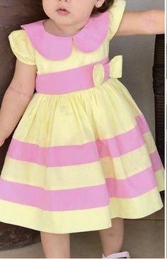 Girls Dresses Sewing, Girls Easter Dresses, Dresses Kids Girl, Girls Party Dress, Girl Outfits, Summer Dresses, Baby Frocks Designs, Kids Frocks Design, Kids Dress Wear