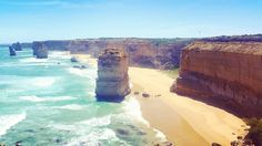 Drove along the Great Ocean Road to visit the 12 apostles unbelievably beautiful - so hard to capture a good photo.  #12apostles #twelveapostles #victoriavisit #greatoceanroad #cliffs #beach #naturalwonders #travel #australia by tayjade.b http://ift.tt/1ijk11S