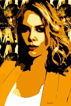 Saatchi Art is pleased to offer the artwork, Theron. Edition by ACQUA LUNA. Original New Media: Engraving, Digital, Manipulated, Paint on Paper. Charlize Theron, Arte Pop, Mad Max, New Media, New Art, Printmaking, Pop Culture, Saatchi Art, Original Art