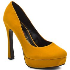 PROMISE SHOES : LEGO PUMP - MUSTARD