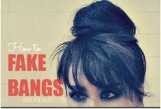 Easy hairstyles: how to fake bangs with a bun tutorial video for short, medium, or long hair     #hairstyles #hair #hairtutorial #updos #updo #hairstyle #longhair #mediumhair #wedding #bridal #curls #hairtutorial #hairdos #peinados #coiffure #bridesmaid #hairdo #prom #homecoming #formal #party #fakebangs #bangs #hairbangs #bun #hairbuns #chignon #DEMILOVATO