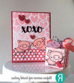 Cured Piggy Gift Box and Card Ensemble by Audrey Tokach.
