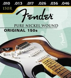 Fender 150R Pure Nickel Wound .010-.046 Electric Guitar Strings by Fender. $6.49. The best of yesterday and today. We started with our pure nickel wound strings and added our newly improved patented Bullet end. Designed especially for your tremolo-equipped electric guitar, the Bullet end lends additional tuning stability to the warm full vintage sound of pure nick.  Bullets-the String for Strat guitars.. Save 46% Off!