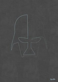 One line Darth Vader Art Print