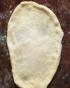 Basic Grilled Pizza Dough - Martha Stewart Recipes- looks like a grilling keeper. I will compare it to my go to oven pizza dough. Reuben Sandwich, Quiche, Ricotta Pizza, Flat Top Grill, Martha Stewart Recipes, Martha Stewart Pizza Dough, Grilled Asparagus, Pasta, Gourmet