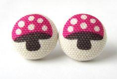 Cute mushroom earrings $8.90