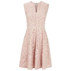 Burberry Joley Fitted Lace Dress (16,055 HNL) ❤ liked on Polyvore featuring dresses, vestidos, short dresses, burberry, short fitted dresses, mini dress, short pink dress, short floral dresses and pink cocktail dress
