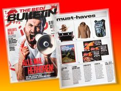"Beach Towel Twist™ suggested as a MUST HAVE by The Red Bulletin in their July issue. We cannot agree more and say ""thank you"" Red Bulletin, Beach Towel, Must Haves, Baseball Cards"