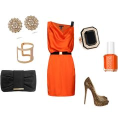 """""""Tangerine at night"""" by gliztsy on Polyvore"""