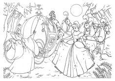 Cinderella And Carriage Promising Futures Cinderella Coloring