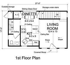 Contemporary Traditional Level One of Plan 68570