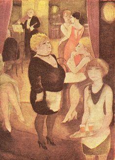 Jeanne Mammen, Jägerkasino.Um 1928