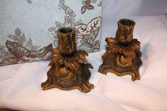 Antique Brass Candlesticks by VintagebyViola on Etsy, $34.00