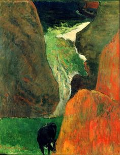 Seascape with Cow or On the Edge of the Abyss, Paul Gauguin, 1888