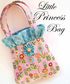 Little Princess Purse/Tote Bag - Inspiration for a Bag FOR LILY... LOVE the Upwards Ruffle that Pops out of the Top like the Growing Flowers!!..